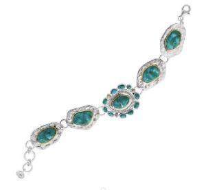 【送料無料】ブレスレット アクセサリ― silpada サンタフェスターリングトルコブレスレットb3325silpada santa fe sterling silver chunky turquoise brass bracelet b3325