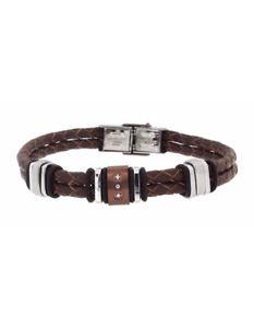 【送料無料】ブレスレット アクセサリ― マヌエルブラウンブレスレット manuel zed brown leather bracelet