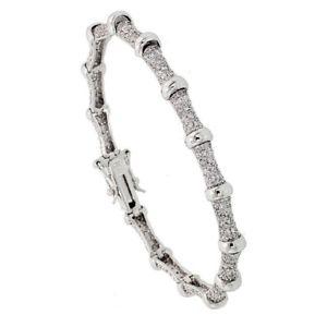 【送料無料】ブレスレット アクセサリ― スターリングステーションczテニスブレスレットsterling silver bead station cz tennis bracelet