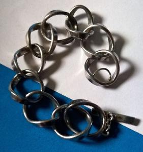【送料無料】ブレスレット アクセサリ― シルバービンテージチェーンブレスレットvintage chain bracelet in silver 800