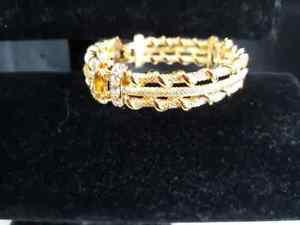 送料無料 ブレスレット アクセサリ― nwobカムローズkross jbkラインストーンブレスレットジャクリーンケネディ7nwob camrose kross jbk petite gold rhinestone bracelet jacqueline kennedy 7XOuPTkZi