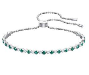 【送料無料】ブレスレット アクセサリ― スワロフスキーブレスレットrhsエメラルドグリーン5465355swarovski subtle bracelet trilogy, rhs emerald green crystal authentic 5465355