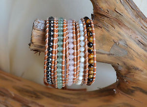 【送料無料】ブレスレット アクセサリ― ラップブレスレットヘマタイトエメラルドローズクォーツシェルビーズタイガーアイmulti gems five wrap bracelet hematite emerald rose quartz shell beads tiger eye
