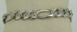 【送料無料】ブレスレット アクセサリ― 328 grammi argentoスターリング8 italiano braccialeフィガロw60328 grammi argento sterling 8 italiano bracciale figaro w60