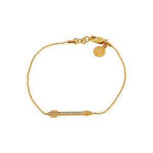 【送料無料】ブレスレット アクセサリ― ニューマルケルコースゴールドアローモチーフブレスレットmkj393471075 michael kors gold clear pave arrow motif delicate bracelet mkj3934710 75