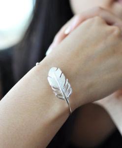 【送料無料】ブレスレット アクセサリ― スターリングシルバーブレスレットブレスレットフェザーブレスレットfeather bracelet in sterling silver 925, nature bracelet, tribal bracelet