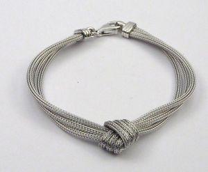 【送料無料】ブレスレット アクセサリ― ソリッドスターリングシルバーニットワイヤブレスレットbracelet in solid sterling silver 925 knitted wire
