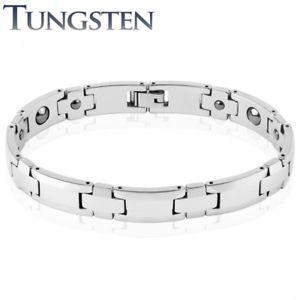 【送料無料】ブレスレット アクセサリ― タングステンメンズブレスレットシルバートリムtungsten mens bracelet silver trim