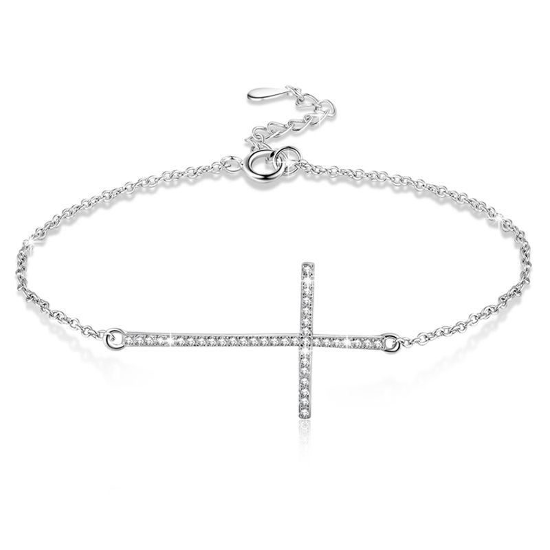 【送料無料】ブレスレット アクセサリ― ×クロスブレスレットポンドシルバーブレスレット10xcross bracelets 925 sterling silver bracelet for women q8c4