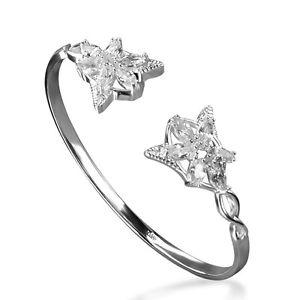 【送料無料】ブレスレット アクセサリ― スターリングシルバーストーンエルフブレスレットbeautiful 925 sterling silver cz stone lotr elf princess arwen star bracelet gif