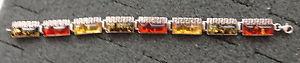 【送料無料】ブレスレット アクセサリ― バルトマルチカラーオレンジブレスレットbaltic multicolor amber bracelet women rare