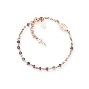 【送料無料】ブレスレット アクセサリ― ブレスレットアーメンコレクションクロスbracelet rosary amen collection mod brorvi4 925 silver roses charm cross