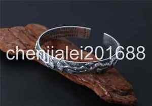 【送料無料】ブレスレット アクセサリ― スターリングシルバーレトロエンボスブレスレットpure s925 sterling silver retro emboss opening adjustable womens bracelet