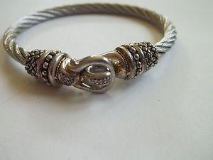 【送料無料】ブレスレット アクセサリ― デザイナーブレスレットkゴールドスチールプレdesigner bracelet,925,18k gold,ststeel,great preown cnd,hallmarked ac
