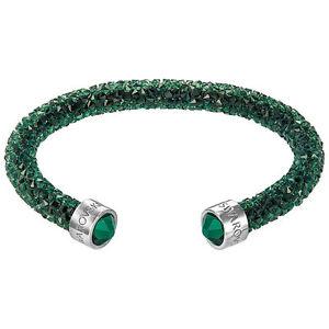 【送料無料】ブレスレット アクセサリ― スワロフスキーカフswarovski 5255908 crystaldust cuff, green, small 100 authentic