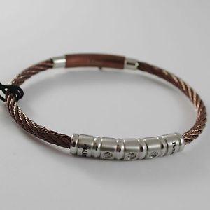 【送料無料】ブレスレット アクセサリ― スチールブレスレットチェーザレmen rigid steel bracelet braided cesare paciotti 4us 4ubr1383