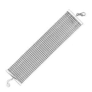 【送料無料】ブレスレット アクセサリ― ブレスレットfine silver plated perline 36mm bracelet