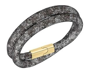 【送料無料】ブレスレット アクセサリ― スワロフスキースターダストライトマルチダブルブレスレットサイズswarovski 3d stardust light multi double bracelet, size s mib 5102560