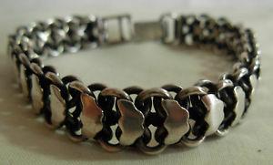 【送料無料】ブレスレット アクセサリ― ビンテージリアルハンドメイドスターリングシルバーブレスレットグラムa vintage real hand made sterling silver bracelet 345 grams