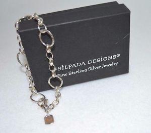 【送料無料】ブレスレット アクセサリ― リンクブレスレットスターリングシルバーnwot silpada b2469 linked charm bracelet 925 sterling silveradjusts to 7 34