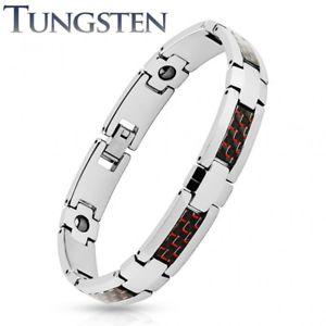 【送料無料】ブレスレット アクセサリ― タングステンメンズブレスレットカーボンファイバーtungsten mens bracelet carbon fiber