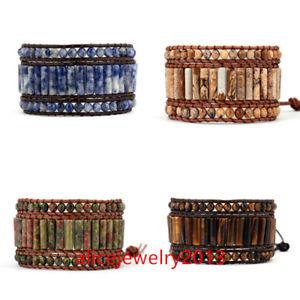 【送料無料】ブレスレット アクセサリ― チューブブレスレットブレスレットラップ3 strands tube shape leather wrap bracelets handmade bracelet y03