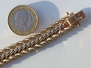【送料無料】ブレスレット アクセサリ― 1980イェローゴールド193cmパンチbeautiful bracelet old 1980 in yellow gold plated punchedlength 19,3cm