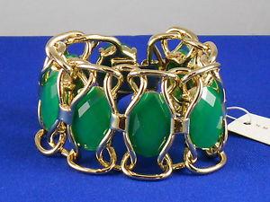 【送料無料】ブレスレット アクセサリ― ダークグリーンワイドフレックスブレスレットドルtrina turk gold plated dark green set stone openwork wide flex bracelet 158