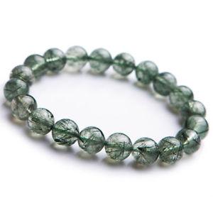 【送料無料】ブレスレット アクセサリ― ルチルラウンドビーズヒーリングブレスレットnatural green rutilated quartz crystal round beads healing bracelet 11mm aaa