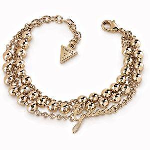 【送料無料】ブレスレット アクセサリ― ストラップゴールドコレクションguess ubb85089s wrist strap in colour gold collection