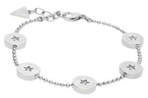 【送料無料】ブレスレット アクセサリ― レディースブレスレットステンレススチールシルバーguess ladies bracelet stainless steel silver usb81002