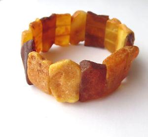 【送料無料】ブレスレット アクセサリ― オレンジストレッチブレスレットnatural raw amber stretch bracelet 675