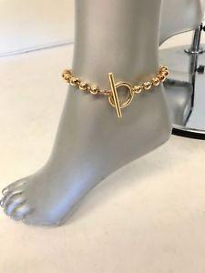 【送料無料】ブレスレット アクセサリ― ジェニファーフィッシャーチェーンjennifer fisher orb chain anklet goldplated