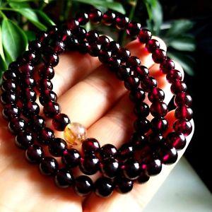 【送料無料】ブレスレット アクセサリ― ワインレッドガーネットラウンドビーズブレスレットnatural wine red garnet crystal round beads bracelet 6mm aaaa