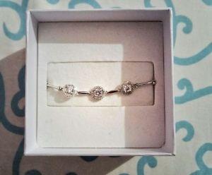 【送料無料】ブレスレット アクセサリ― シルバースワロフスキーブレスレットsilver swarovski bracelet for women