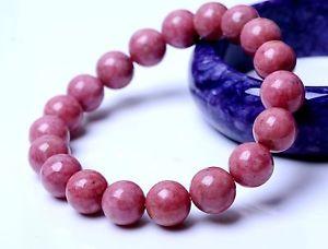 【送料無料】ブレスレット アクセサリ― ローズビーズブレスレットbeautiful natural rose rhodonite gemstone women beads love bracelet 11mm