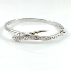 【送料無料】ブレスレット アクセサリ― アルジェントスターリングブレスレット925 argent sterling dames bracelet charnires serpent poinonne 191cm lourde