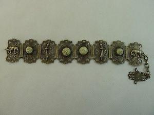 【送料無料】ブレスレット アクセサリ― ビンテージイスラムシルバートーンメタルブレスレットvintage islamic silver tone metal beautifully decorated bracelet