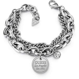 【送料無料】ブレスレット アクセサリ― ブレスレットカラーシルバークリスタルコレクションguess ubb28067s bracelet colour silvercrystal nine collection