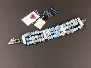 【送料無料】ブレスレット アクセサリ― ビードカフrodrigo otazu blue opalescent bead cuff