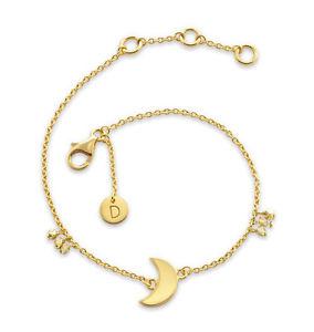 【送料無料】ブレスレット アクセサリ― デイジーロンドンハーフムーンカルマブレスレットdaisy london 18ct gold plated half moon good karma bracelet