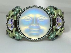 【送料無料】ブレスレット アクセサリ― カフブレスレットレアkirks folly seaview moon lionheart cuff bracelet, silvertone   rare