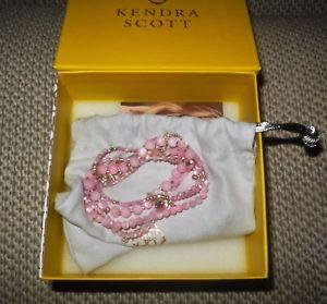 【送料無料】ブレスレット アクセサリ― スコットピンクシルバービーズブレスレットkendra scott supak silver beaded bracelet set in pink