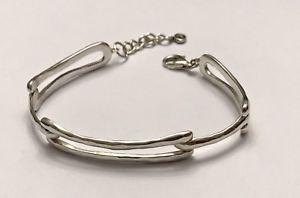 【送料無料】ブレスレット アクセサリ― トリプルリンクスターリングシルバーブレスレットエクステンダ silpada triple link sterling silver bracelet, 71 extender b3407 hammered