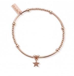 【送料無料】ブレスレット アクセサリ― ローズゴールドミニスターブレスレットchlobo rose gold plated cute mini star bracelet