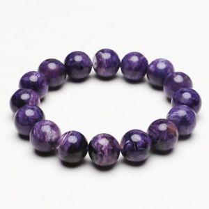 【送料無料】ブレスレット アクセサリ― クリスタルビーズブレスレットストレッチ134mm natural purple charoite crystal gemstone stretch beads bracelet zlbb016