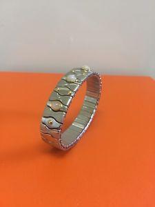 【送料無料】ブレスレット アクセサリ― ステンレススチールkゴールドブレスレット listingmanuel zed stainless steel 18k gold bracelet