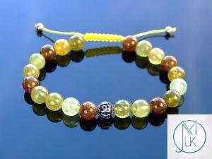 【送料無料】ブレスレット アクセサリ― スターリングシルバーブレスレットマクラメヒーリングtsavorite om sterling silver natural gemstone bracelet 69 macrame healing
