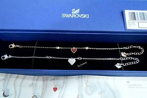 【送料無料】ブレスレット アクセサリ― スワロフスキークリスタルブレスレットセットswarovski crystal wishes heart bracelet set, red, authentic mib 5272249