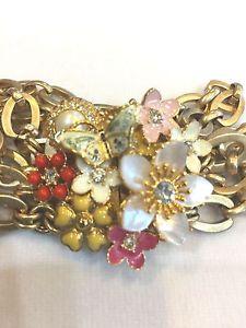 【送料無料】ブレスレット アクセサリ― ジューシークチュールガーデンブレスレットオリジナルボックスタグjuicy couture blooming garden bracelet w original box amp; tags